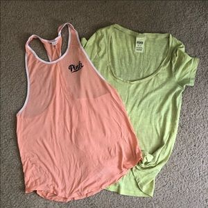 Two Victoria's Secret Pink lounge tops